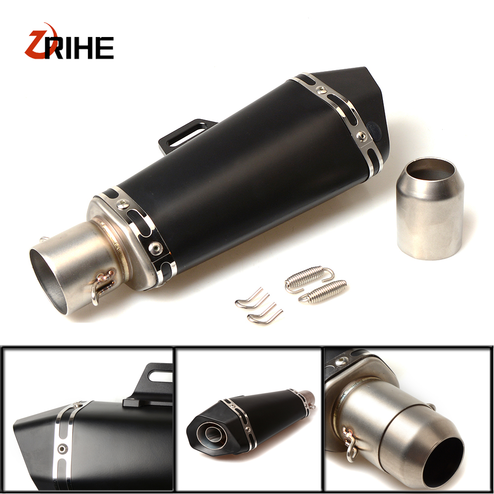 36-51mm Universal CNC Motorcycle Moto Bike Exhaust Pipe With Muffler For Triumph SPEED TRIPLE R thruxton r SPRINT ST/SPRINT RS