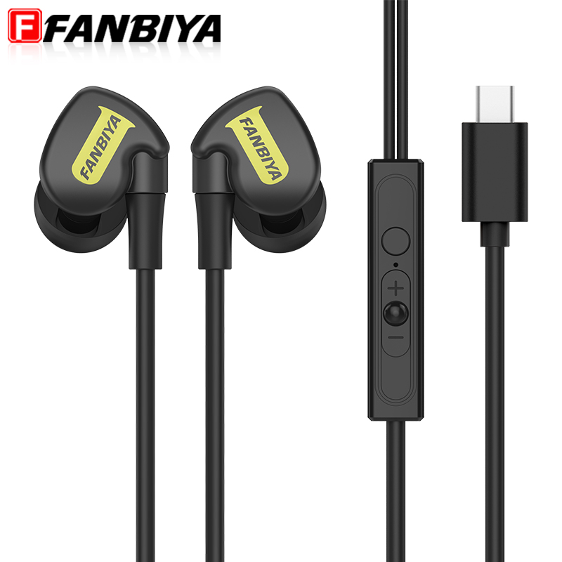 FANBIYA Type c Sport Headphone with Mic Type-c Ear Hook Super Bass Stereo Game Earphone for Letv Xiaomi 4C Macbook HTC10 Earbuds rock y10 stereo headphone earphone microphone stereo bass wired headset for music computer game with mic