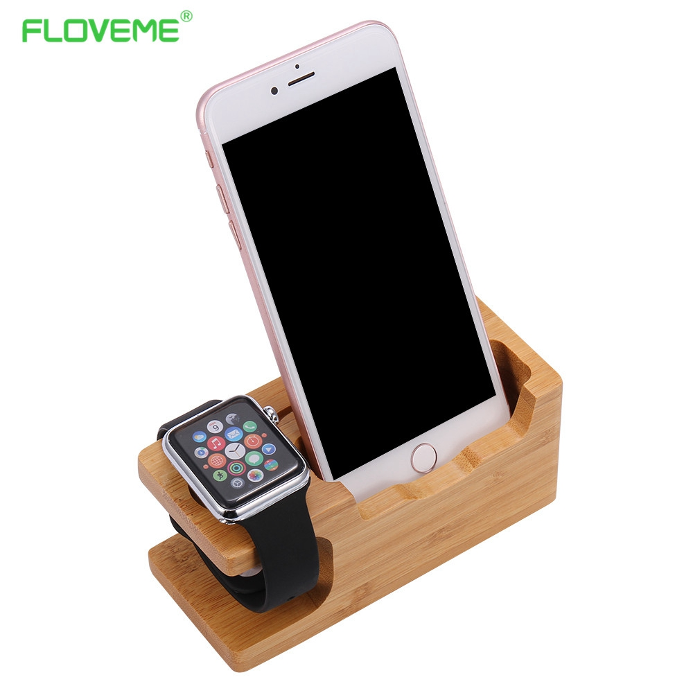 Floveme Wood Phone Holder Stand For Sumsang Charging Dock