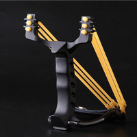 Strong Durable 3D Mental Slingshot For Outdoor Hunting Games Heavy Stainless Steel Catapult