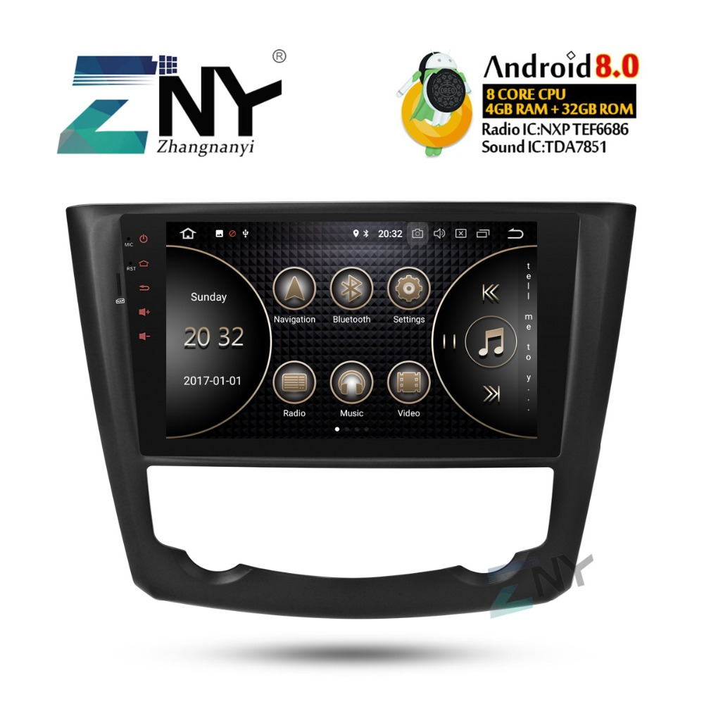 9 IPS Android 8.0 Autoradio GPS Pour Renault Kadjar 2015 2016 2017 auto-radio FM + En Option DSP/ carplay/DAB +/64 GB ROM/Perroquet BT