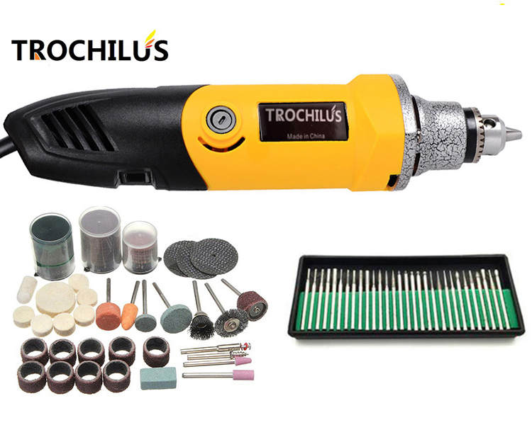 Troutilus 400W mini grinder electric rotary Grinding tool Dremel style electric engraver DIY drill grinding machine set 80pcs electric rotary drill grinder polish sanding tool set kit dremel bit case with box
