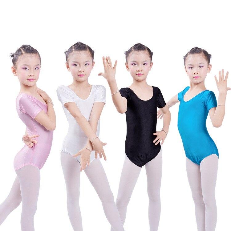 ᗚNiños Ballet Gimnasia leotardo ropa manga corta chica Ballet ...