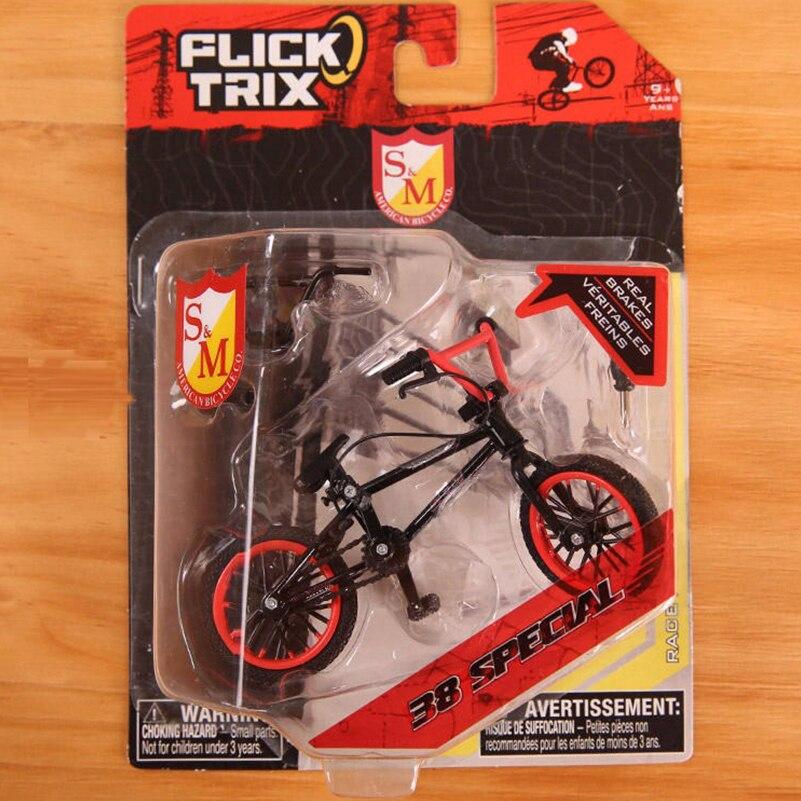 Mini Dedo BMX Bicicleta Flick Trix Dedo Brinquedos Modelo de Bicicleta BMX Bicicletas Bike Tech Deck Gadgets Novidade Da Mordaça Brinquedos Para presentes dos miúdos