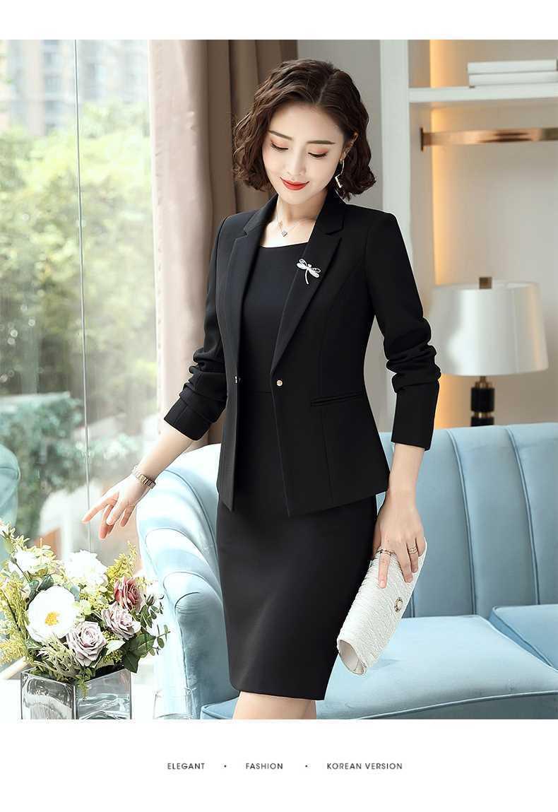 0226288c6b 2019 das Mulheres Vestido Formal Elegante Blazer Senhoras Blazers ...