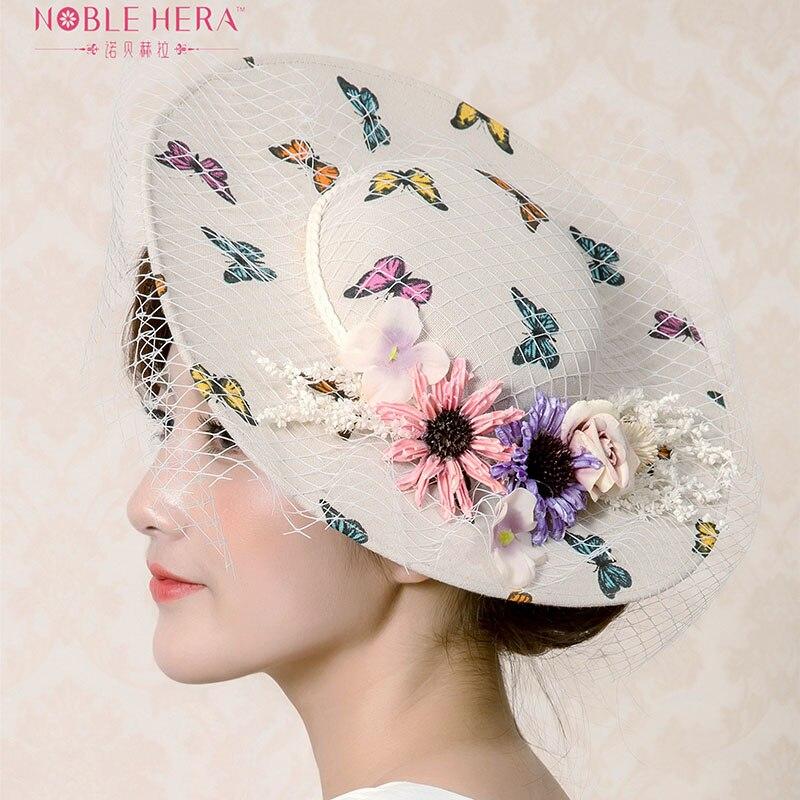 Womens Organza Summer Sun Hat Beach Church Hat Wide Brim Wide Brim Large Flower Sun Hat