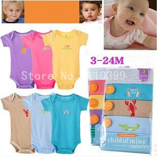 Cotton baby clothes Summer Boutique 1pc Baby   Rompers   Girl's Fashion Cotton Toddler Jumpsuit Infant baby Clothing jumpsuit