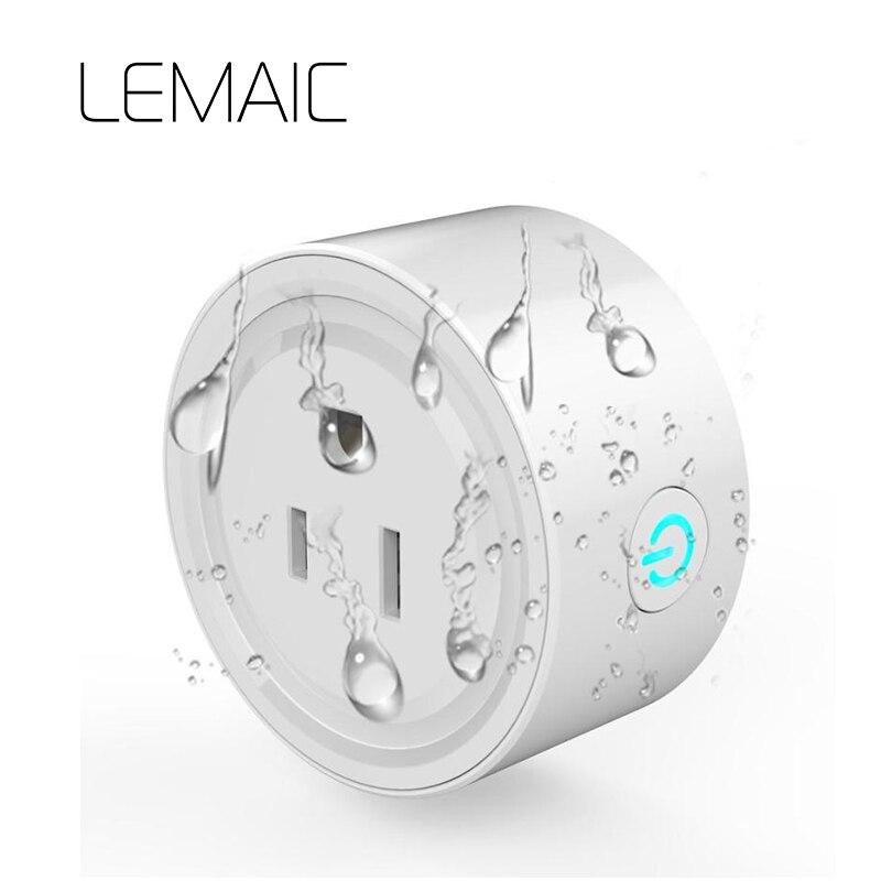 LEMAICUS контролирует потребление Беспроводной Smart Мощность розетка 16A/10A таймер Wi-Fi пульт дистанционного Управление для умного дома IOS Android
