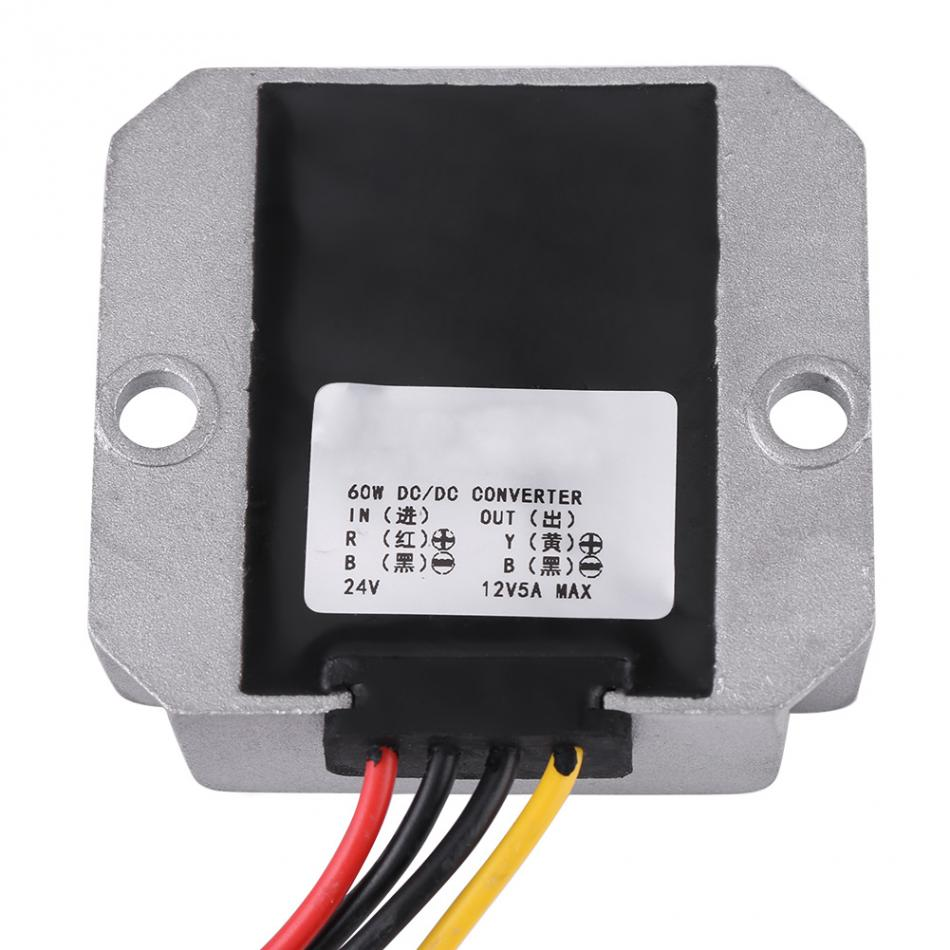 DC-DC 24V To 12V 5A 60W Voltage Step Down Module Buck Power Supply Converter for Car Vehicle