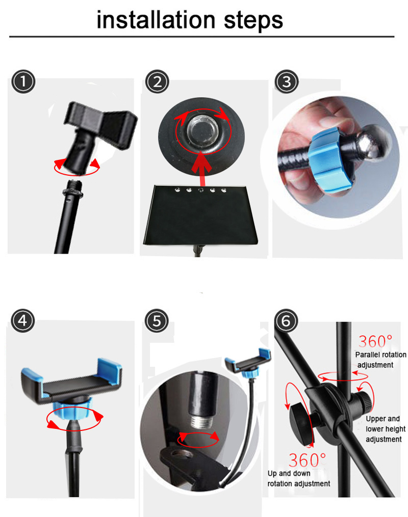 Ring Light and Floor Stand Mic Holder 13