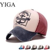 Yiga 2017 nueva moda pirata unisex algodón hueso Fieltro sombrero de béisbol  casquillos ajustables nave ancla hombres mujeres So. f284e98a981