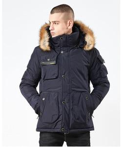 Image 3 - Mwxsd brand Men winter warm hooded jacket and coat mens fur thick military zipper parkas warm overcoat jacket
