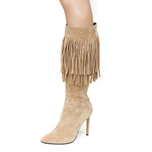 Image 4 - MORAZORA 2020 new arrival mid calf boots women pointed toe autumn winter boots sexy stiletto heels shoes fashion fringe boots