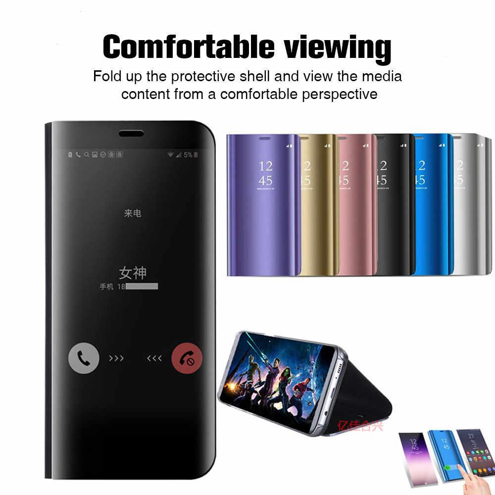 Caso Para Samsung M20 Caso De Luxo Espelho de Vista Smart Cover Para Samsung Galaxy A50 A20 A70 A40 A30 M10 M30 a8 Plus 2018 A6 Original