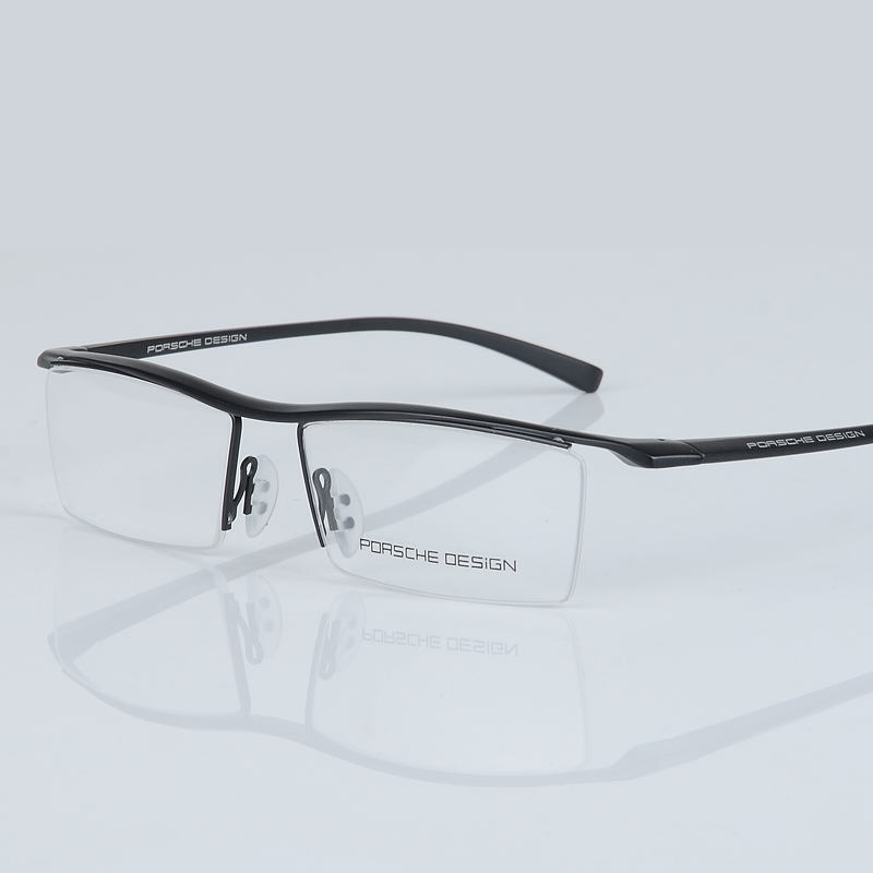 2017 baru pria kacamata bingkai titanium optik setengah bingkai - Aksesori pakaian - Foto 3