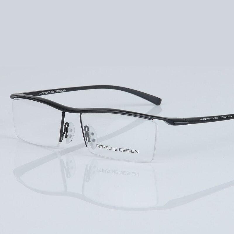 2017 novos homens óculos de Meia armação dos óculos óculos de armação De Titânio  óptica Quadrado do vintage clássico oculos de grau 8189 em Armações de ... d59f09ae90