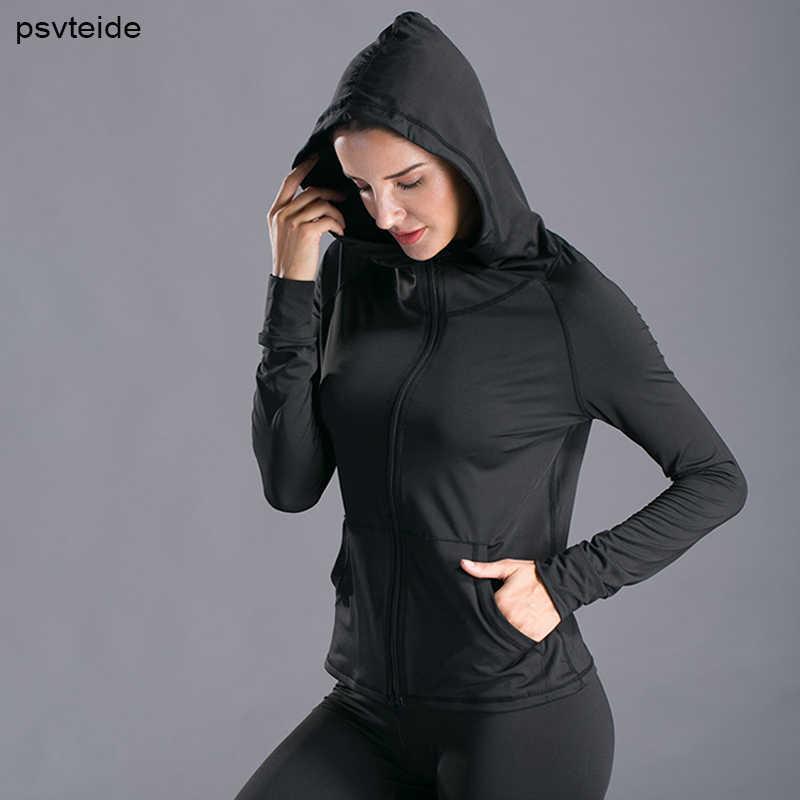 여자 후드 자켓 스포츠 코트 압축 피트니스 후드 체육관 러쉬 가드 종합 훈련 스웨터 러닝 자켓 조깅