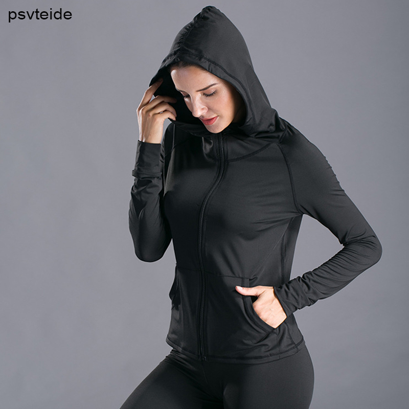 NEW Mens Gym Running Coat Hooded Zipper Pocket Compression Sport Jacket Outwear