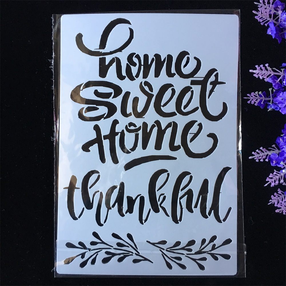 New Home Sweet Words DIY Layering Stencils Painting Scrapbook Coloring Embossing Album Decorative Paper Card Template
