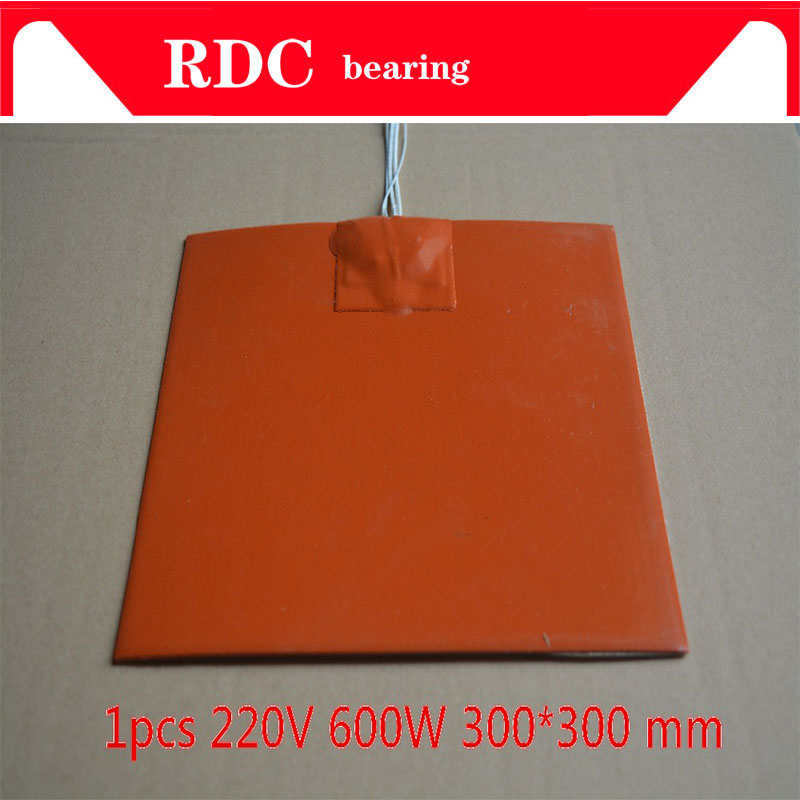 цена на 1PCS Silicone heating pad heater 220V 600W 300mmx300mm for 3d printer heat bed