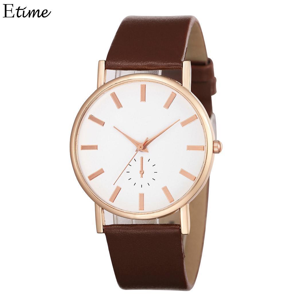 Considerate Fanala Watch Women Fashion Synthetic Leather Band Women Watches Round Analog Quartz Wrist Ladies Watch Reloj Mujer Crease-Resistance Watches