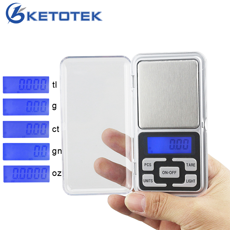 Digital Mini Jewelry Scale 0.01g 200g 500g Weight Balance Gold Silver Scales LCD Backlight Electronic Weighting Tool Pocket