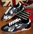 2017 nuevos Hombres Ocasionales de los Zapatos de Primavera Otoño Mens Trainers Pisos Transpirables Zapatos Para Caminar Zapatillas Hombre Zapatos de Moda Masculina Cordón