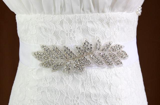 Sparkle Shiny 2017 New Fashion Luxury Wedding Belts Beaded Pearls Bridal Sash Handmade Crystal Bridal Sashes For Bridal XW14