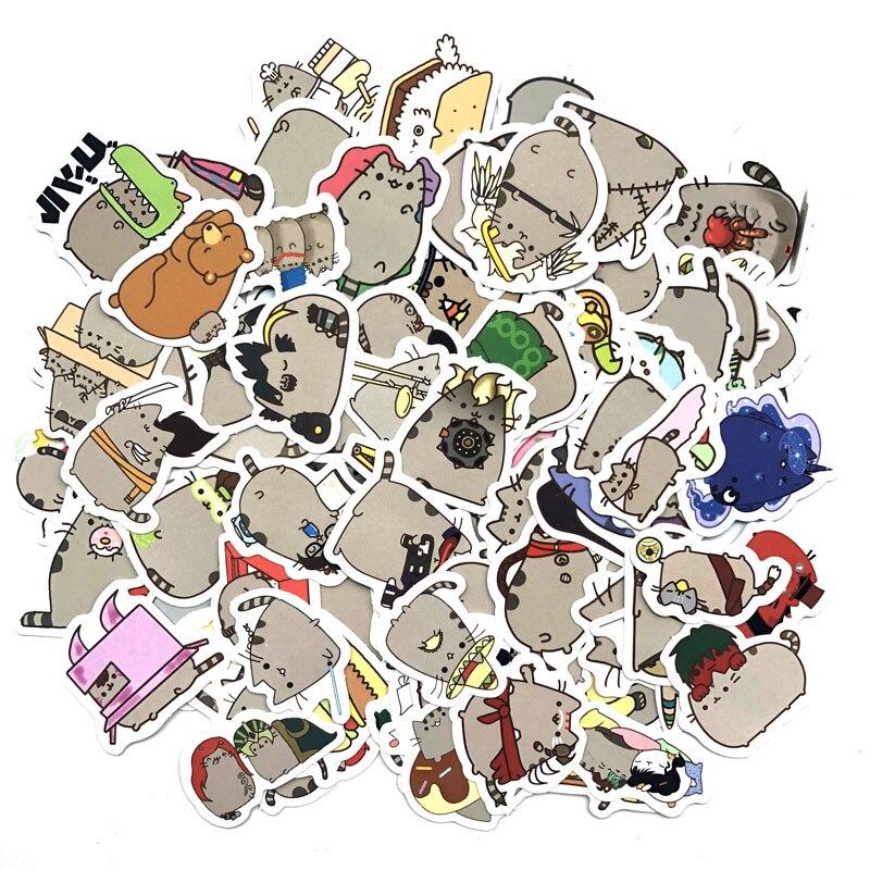 100pcs/pack Cute Fat Cat Decoration Stickers Diy Paper Sticker Scrapbooking For Diary Album Label Sticker Bullet Journal Sticker
