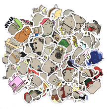100pcs/pack Cute Fat Cat Decoration Stickers Diy Paper Sticker Scrapbooking for Diary Album Label Bullet Journal