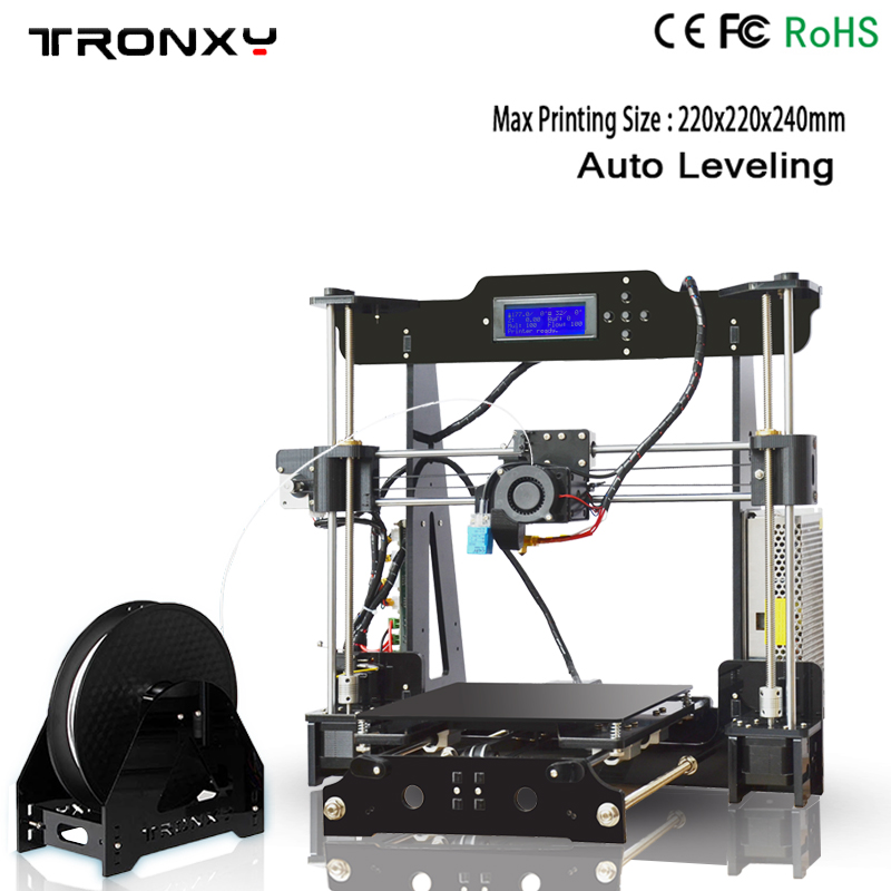 Auto level 3D printer DIY kits automatic leveling melzi marlin firmware with PLA filament 8GB SD card for free melzi 1284p
