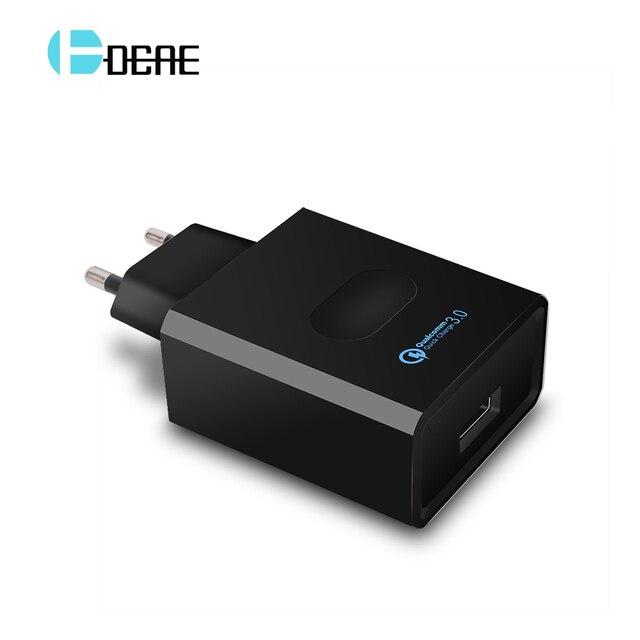 Cargador de teléfono USB cargador de viaje EU/US