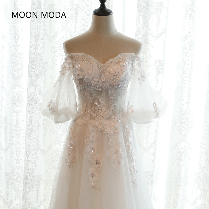 Boho vintage dentelle robe de mariée 2019 mariée simple sheap robe de mariée vraie photo weddingdress weding robe de mariage de noiva 2018