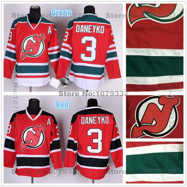 info for 6eaa4 e75ad new jersey devils 3 ken daneyko red with black jersey