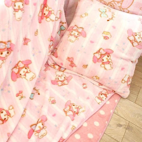 Candice guo! Q brinquedo de pelúcia dos desenhos animados doce rosa melodia bolo macio fronha ar condicionado cobertor meninas aniversário presente natal 1pc