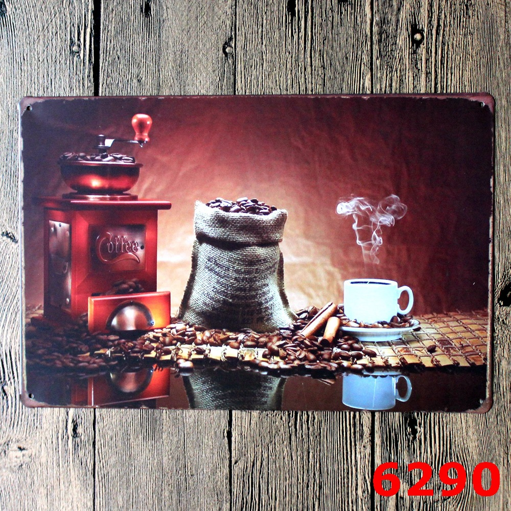 Aliexpress Buy Wholesale 200 Retro Metal Painting Coffee Wall