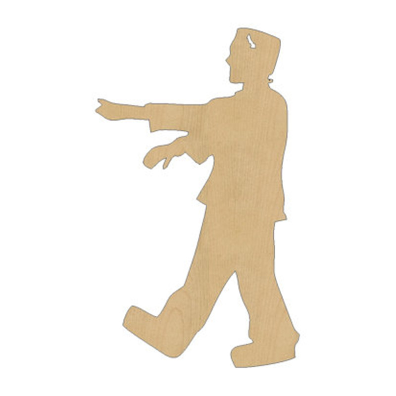 10pcs laser cut wood wooden frankenstein shape diy craft gift tag happy halloween decorations