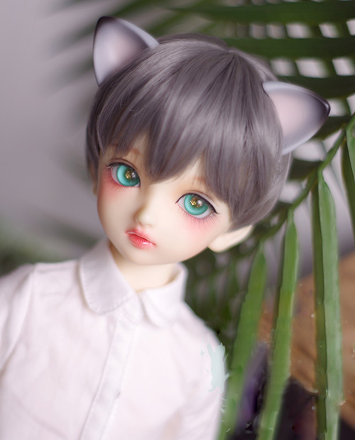 Apprehensive Bjd Doll Wigs Smoky Gray Short Hair Wigs For 1/3 1/4 1/6 1/8 Bjd Dd Sd Msd Yosd Doll High-temperature Hair Wigs