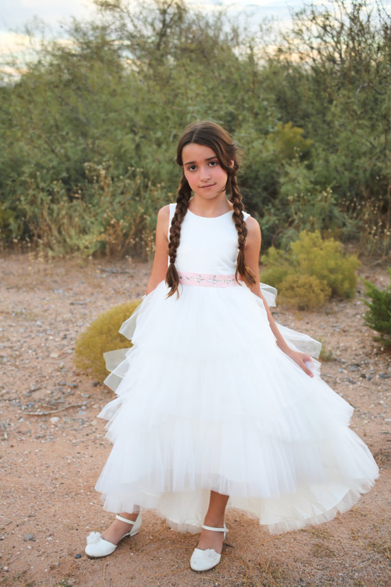 2017 Flower Girl Dresses Vestidos Primera Comunion Communie Jurk Meisje Kids A-Line Mother Daughter Dresses With Hand Make 丹尼熊(danny bear)英美熊系列双肩包女生背包dbwb165073 179白色配红色