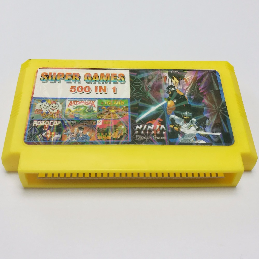 US $5 9  Hot sale Classical game player card 500 in 1 8bit 60 pins NES  games Player Card Contra Cartridge game No repeat Free Shippi-in  Replacement
