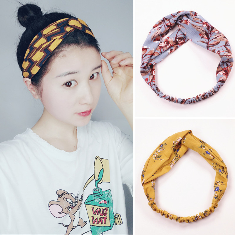 Women Head Wrap Turban Twist Knot Headband Elastic Hair Band Solid Suede