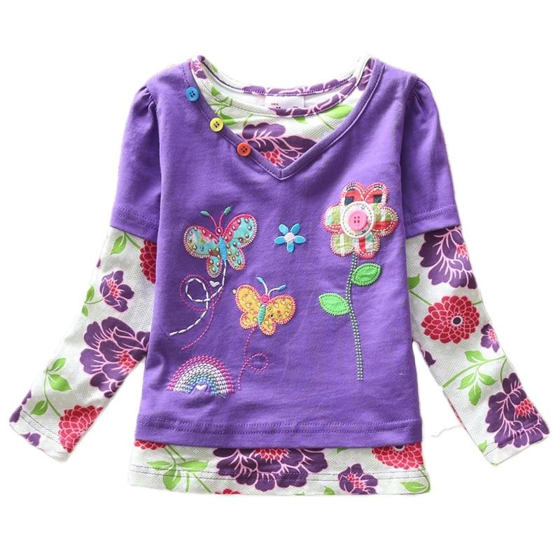 VIKITA T-krekli meitenēm Garām piedurknēm Roupa Infantil Princess - Bērnu apģērbi - Foto 5