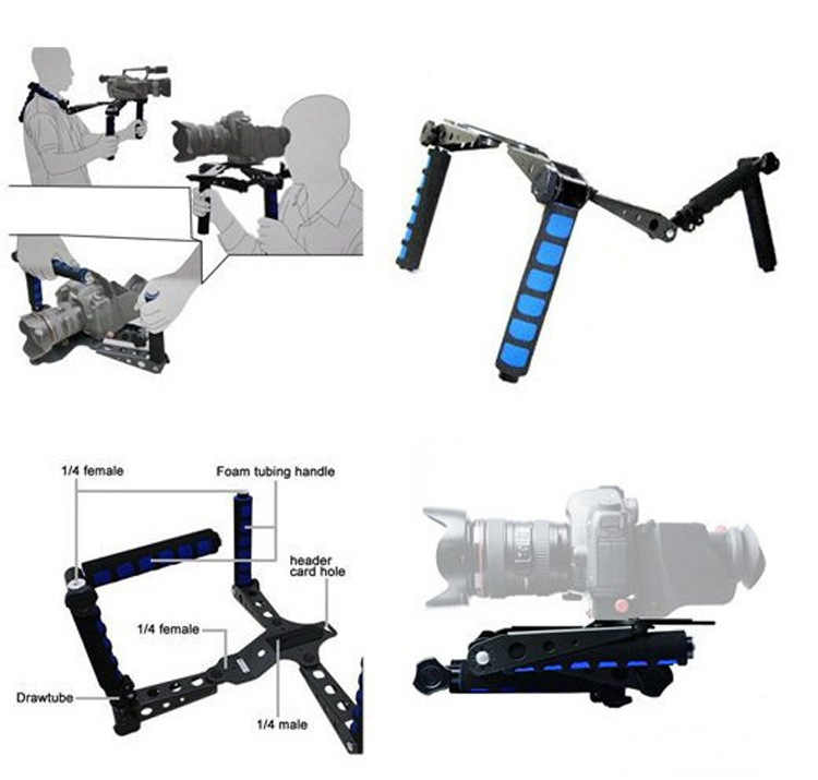 DSLR Rig Movie Kit Shoulder Mount Holder Easy For Canon 5D Nikon 4D Sony Panasonic DSLR Cameras And Camcorders Shooting Camera