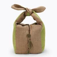 Chinese Kung Fu Handmade Tea Travel Tea Cup Bag Storage Bag Portable Package Gift Drawstring Bag