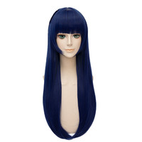 Japanese Anime NARUTO Hinata Wig Women Hyuuga Hinata Cosplay long blue Hair wig Comic con Hinata role play costumes