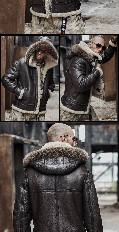 HTB12WXYalKw3KVjSZTEq6AuRpXa0 men genuine leather jacket man real original ecological sheepskin coat raccoon fur detachable hood winter jackets short design