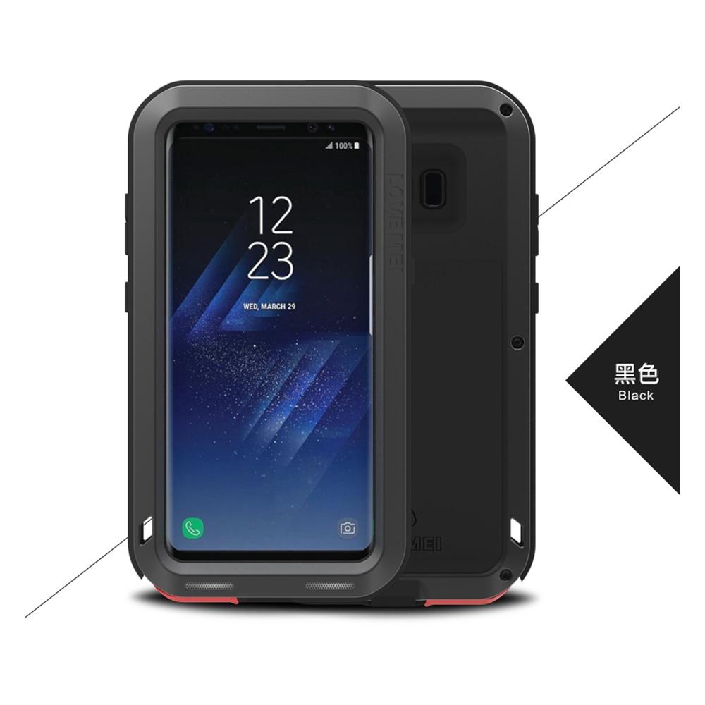 imágenes para Amor Mei Prueba de Golpes Caso para Galaxy S8 S8 Más Pesado A Prueba de golpes Cubierta de la Caja Armor para Samsung Galaxy S8 Metal de Aluminio caso