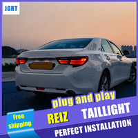 Car Styling for Toyota Reiz Taillight assembly 2016 2017 Mark X LED Tail Light Rear Lamp DRL+Brake with hid kit 2pcs.