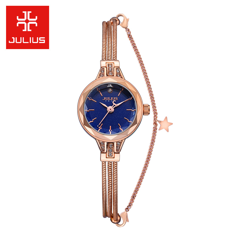 New 5 Colors Snake Chain Bracelet Watch Star Hours Best Fashion Dress Birthday Women's Lady Clock Girl Christmas Gift Box 918