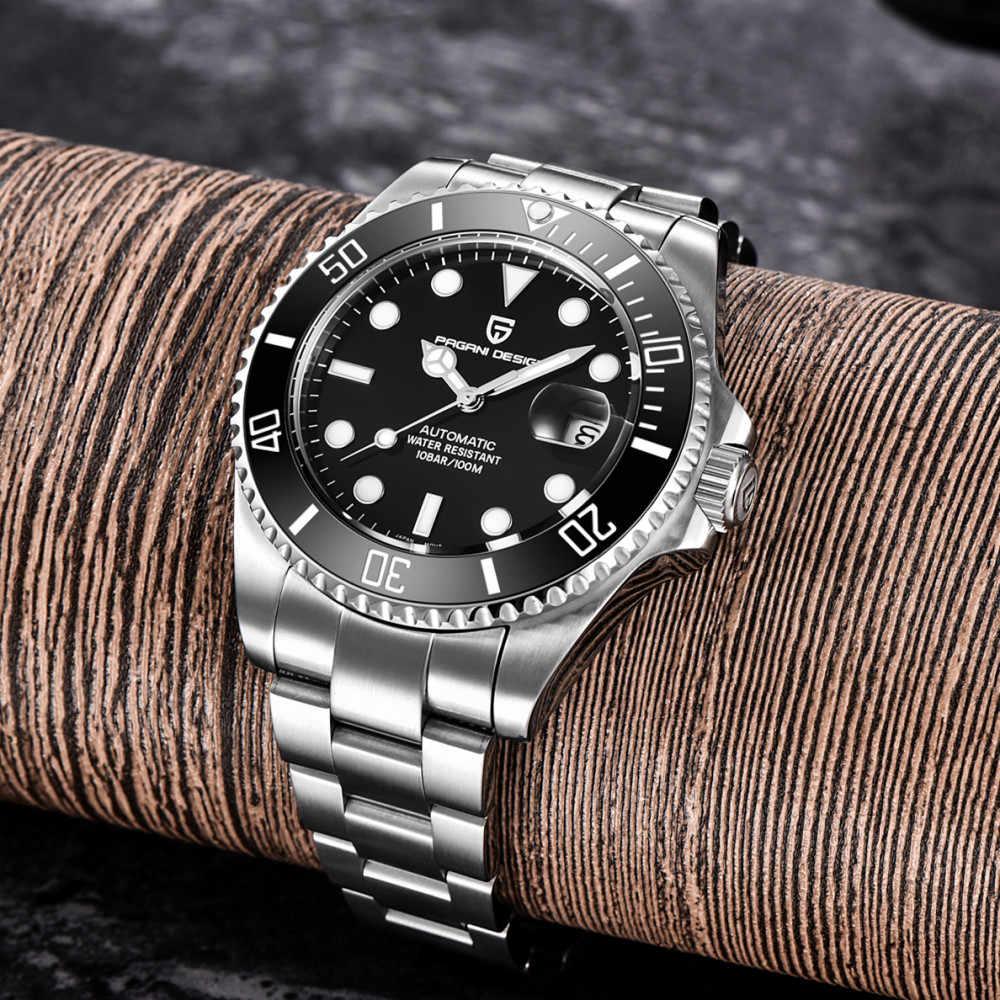 2020 パガーニデザインブランド自動機械式メンズ腕時計 100 メートル防水男性サファイアガラススポーツ腕時計レロジオ masculino